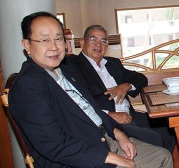 Rotary gurus PDG Xanxai Visitkul and PDG Chow Nararidh, never miss an important Rotary function