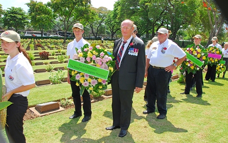 Fred to lay wreath for the Royal British Legion Thailand.