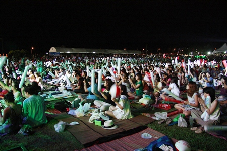 As many as 10,000 people turned up for this year's Overlove Music Festival.