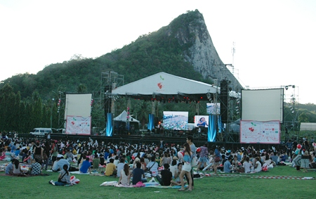 Buddha Hill provides a great backdrop for the festival.