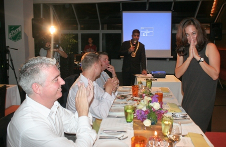 President Tony introduces the charming club secretary 'Jeena' Papakan Saguansap.