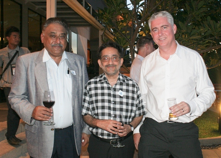 Brendan Daly (right) GM of the Amari Orchid Pattaya poses with Peter Malhotra (left), MD Pattaya Mail and Marlowe Malhotra (center), MD Massic Travel.
