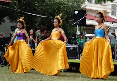 A traditional Thai performance.