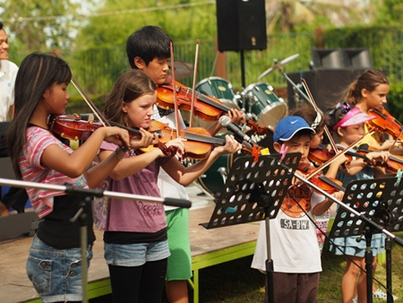 Musical performances from primary students.