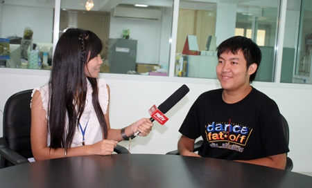 Tanakorn Sunthornnon expresses his gratitude towards the YPPA project in an interview with the Pattaya Mail.