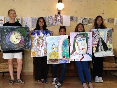 Students display their Art work.