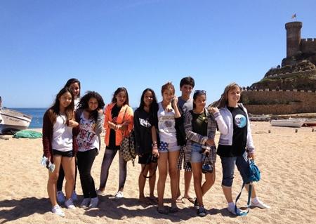 The beach at Tossa de Mar.