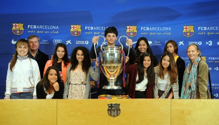 A visit to Barcelona Football Ground.
