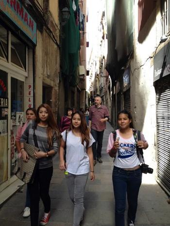 Exploring Barcelona.