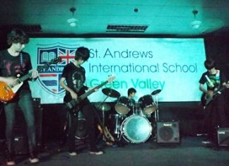 The St. Andrews School Rock Band doing what they do best!