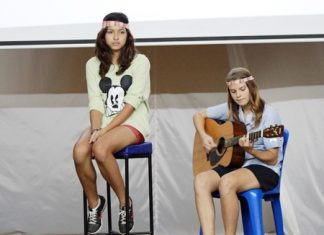 GIS students perform their own eco-friendly song.