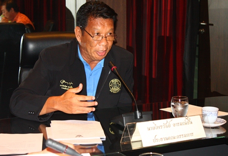Pattaya City Councilman Praiwan Arromchuen, chairman of the sports and recreation committee.