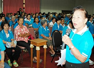 President Pranee Manesarn invites the Pattaya Elderly Club's 300 members to be part of the June excursion to Isaan.