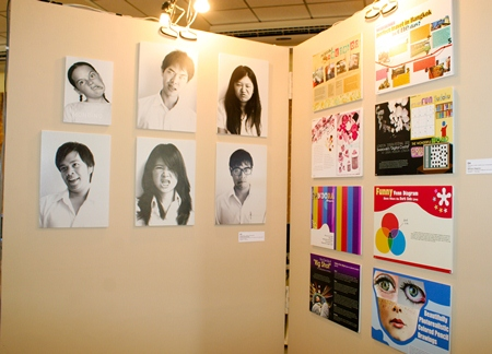 Some of the works shown in the exhibition, proving the students have real talent.