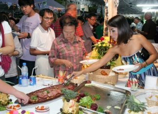 Guests are treated to a variety of food.