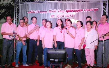 Chanyuth's friends sing happy birthday.