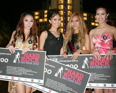 The winner and finalists of Ms. Hard Rock Pattaya 2012.