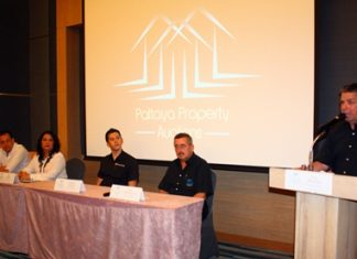 Paul Strachan (right) informs the press as to why Pattaya Property Auctions has been set up.