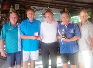 (From left): Joe Mooneyham, Peter LeNoury, Greg Hirst (DeVere Financial), Andy Makara and Paul Greenaway.
