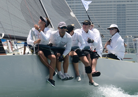 The crew on 'Ichiban' race to another win in the IRC 2 class.