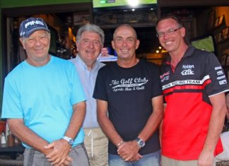 Alan Rothwell, Michael Whelan, Golf Captain Phil Smedley and Dean Whitaker.