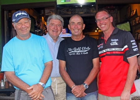 Alan Rothwell, Michael Whelan, Golf Captain Phil Smedley and Dean Whitaker.