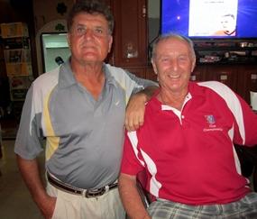 'C' Flight winner Lewis Szigligeti with Colin.