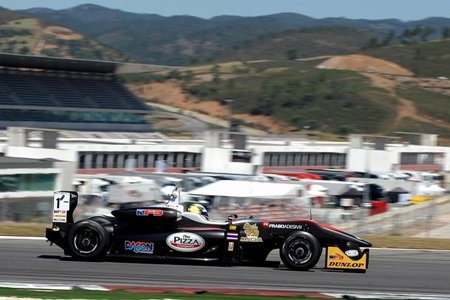 Stuvik steers his RP Motorsport F3 car to second place in Race 1 at the Portimao Circuit in Portugal, Saturday, May 11.