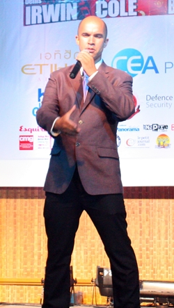 """Yves Baron Le Tenor wows guests with his rendition of """"Barcelona.""""."""