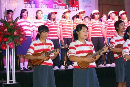 "The Mechai Pattana School children sing ""We Are The World."""
