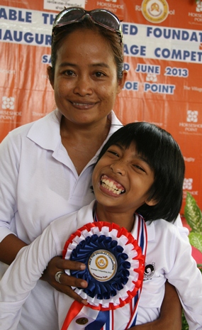Ploy did not win the competition, but she seems happy with her rosette