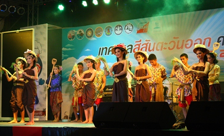A skilled dance troupe performs traditional Thai dance.