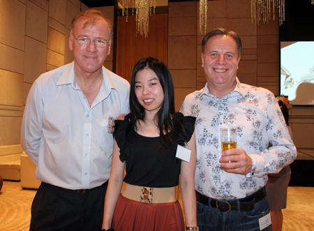 (L to R) Clive N. Butcher (Transearch), Natchanan Dechaakhrawanit (Business Development Manager for Allied Pickfords Thailand), and Simon Matthews (Country Manager, Thailand, Manpower Group).