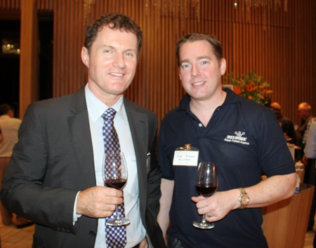 (L to R) R. Greg Wallis (Senior Trade Commissioner, Minister-Counsellor (Commercial) Australian Embassy), Jesse Bronson (Belzona).