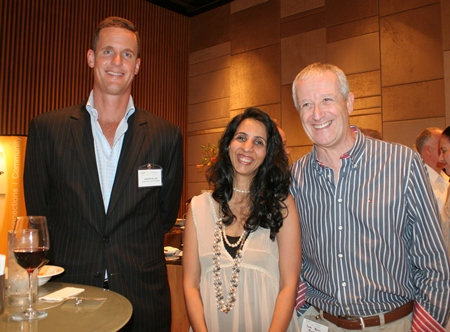 (L to R) Jason Ellis (President Thailand for Ns BlueScope (Thailand) Limited), Jyoti Sachavirawong (Deputy Director, British Chamber of Commerce Thailand), and Tom Kerr.