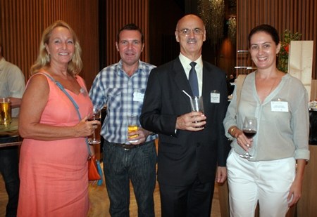 (L to R) Rosanne Diamente (Women With a Mission), Paul Wilkins, H.E. James Wise, Australian Ambassador to Thailand, and Kylie Grimmer (Women With a Mission).