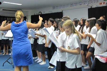 Sectional rehearsal with Miss Sian Jones.
