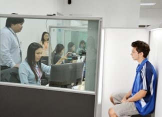 The first day at Pattaya's new passport office was quite busy with people coming in to renew or apply for a passport.
