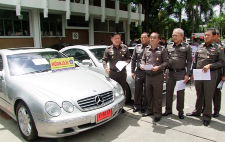 Police have seized 10 luxury cars illegally imported into Thailand.