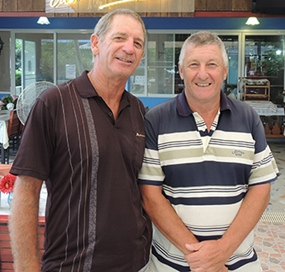 Greg Hill (left) with Ian Hart.