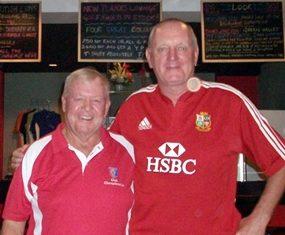 Joe Mooneyham (left) with Bob Newell.