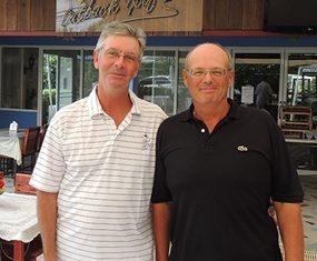 Bob St Aubin (left) with John O'Keefe.
