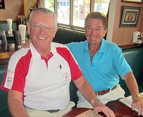 Dick Warberg (left) with Paul Alford.