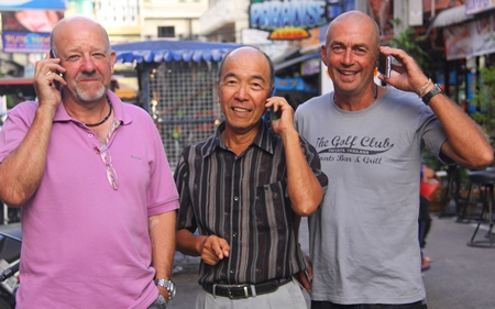 Hold the phone! Great shooting for Barry, Mashi and Phil.