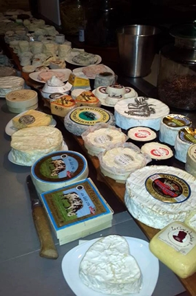 Gerard Poulard brought out around 60 of his special cheeses.