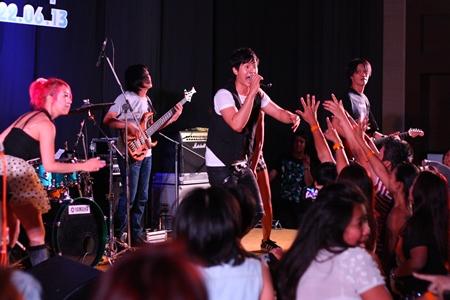 Ice Saranyu performs at the Amari Orchid Resort & Tower, Saturday, June 22.