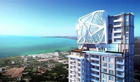 An artist's rendering shows Matrix's The Sky Jomtien development.