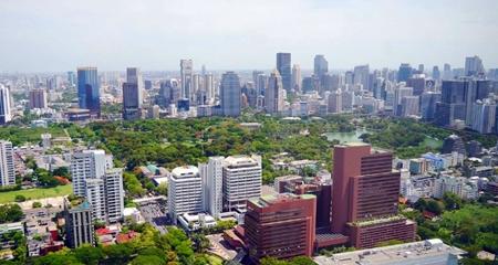 Bangkok downtown area.