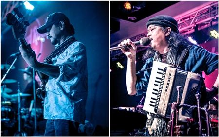 Anupong 'Aod' Prathompatama, bass guitarist and Luechai 'Duk' Ngamsom, keyboard.