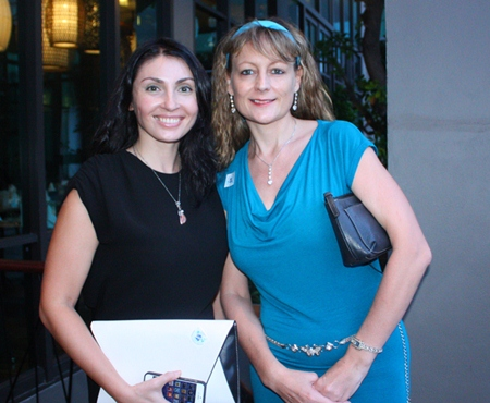 (L to R) Irena De Ribas and Angie Turton, Marketing Manager of Real Estate Thailand Magazine Russian Edition.